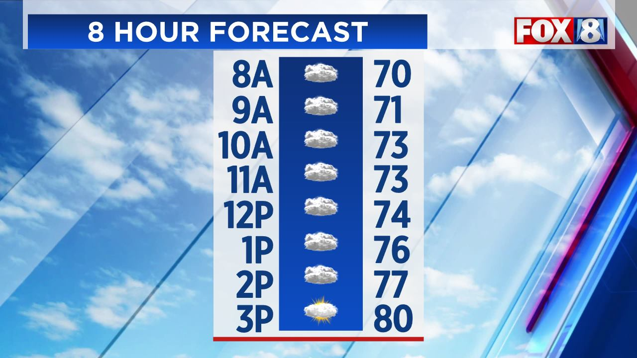8 Hour Forecast