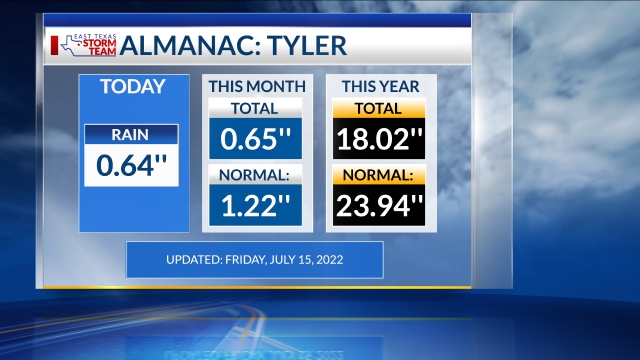 Tyler Rainfall