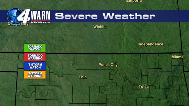 Severe watches and warnings