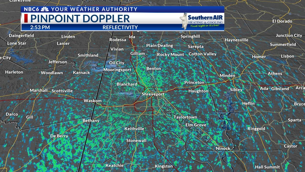 Pinpoint Doppler Caddo & Bossier Parishes