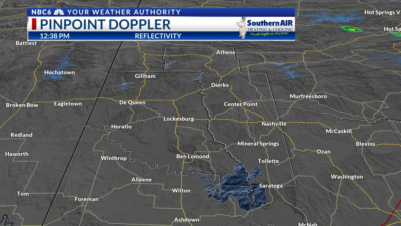 Pinpoint Doppler Sevier & Howard counties