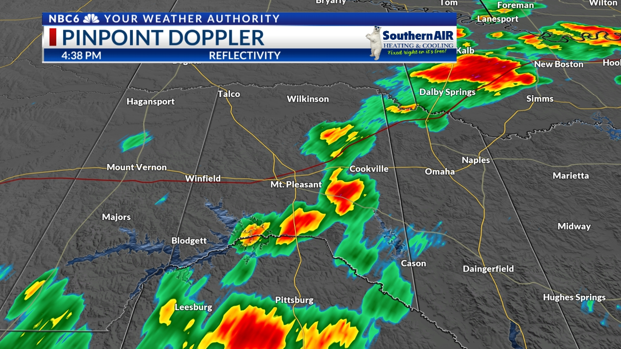 Pinpoint Doppler Franklin-Titus-Morris-Camp Counties