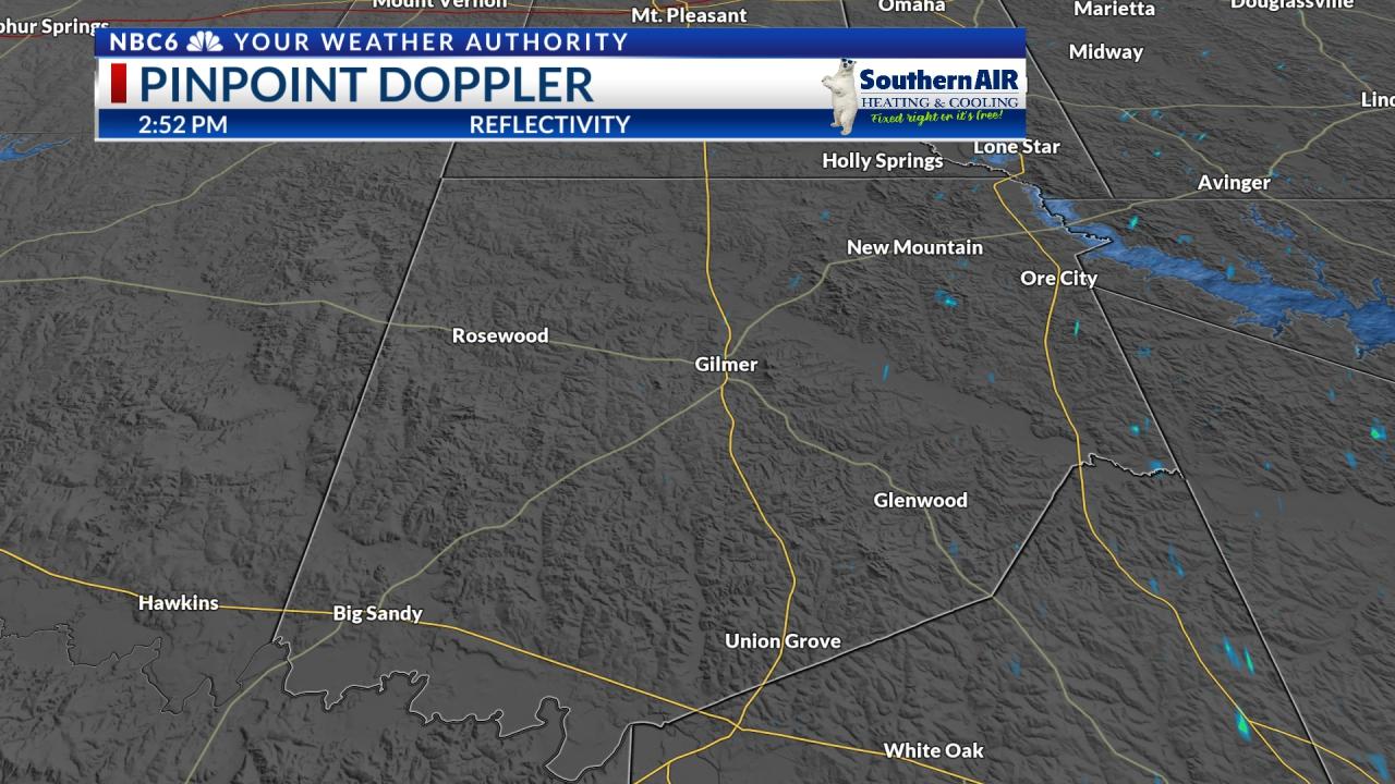 Pinpoint Doppler Upshur County