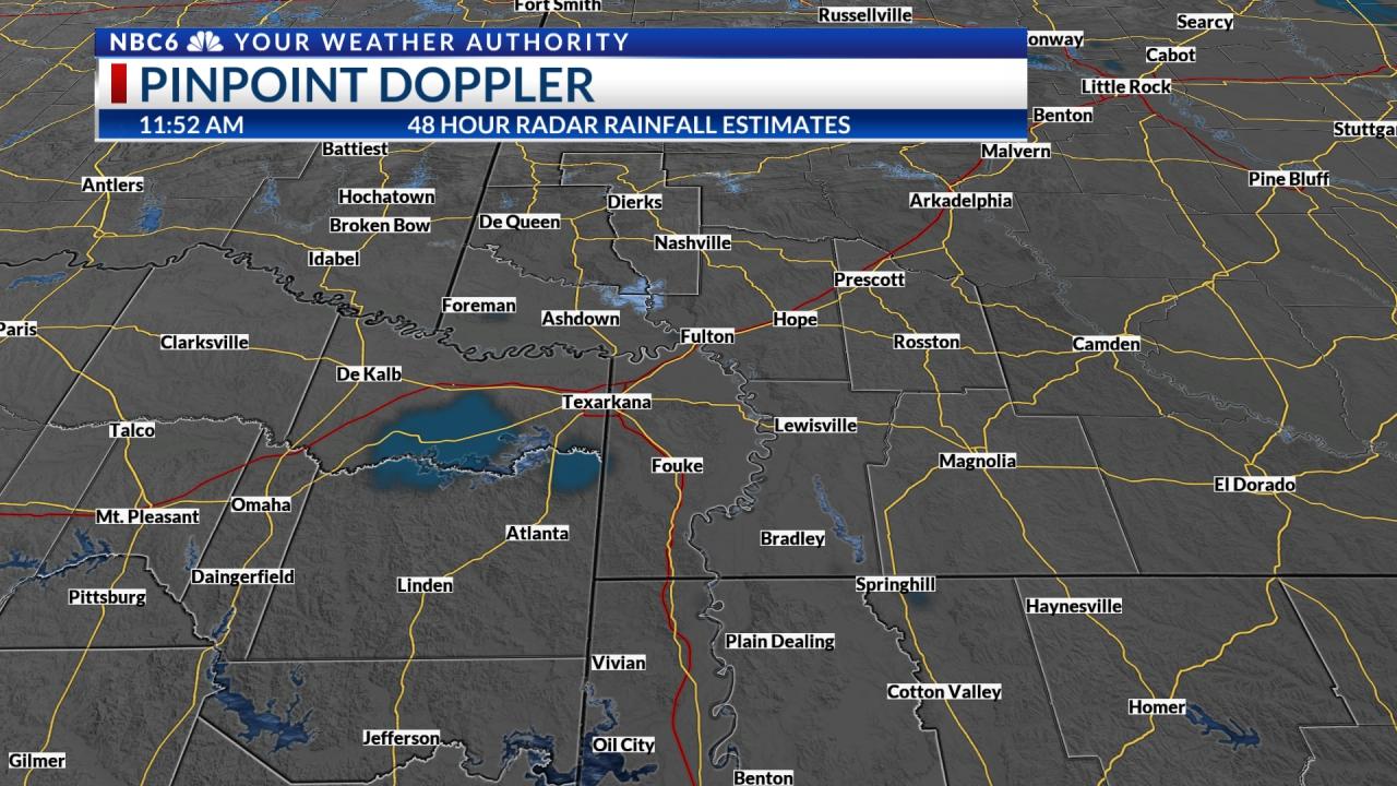 Pinpoint Doppler Rainfall Estimate North