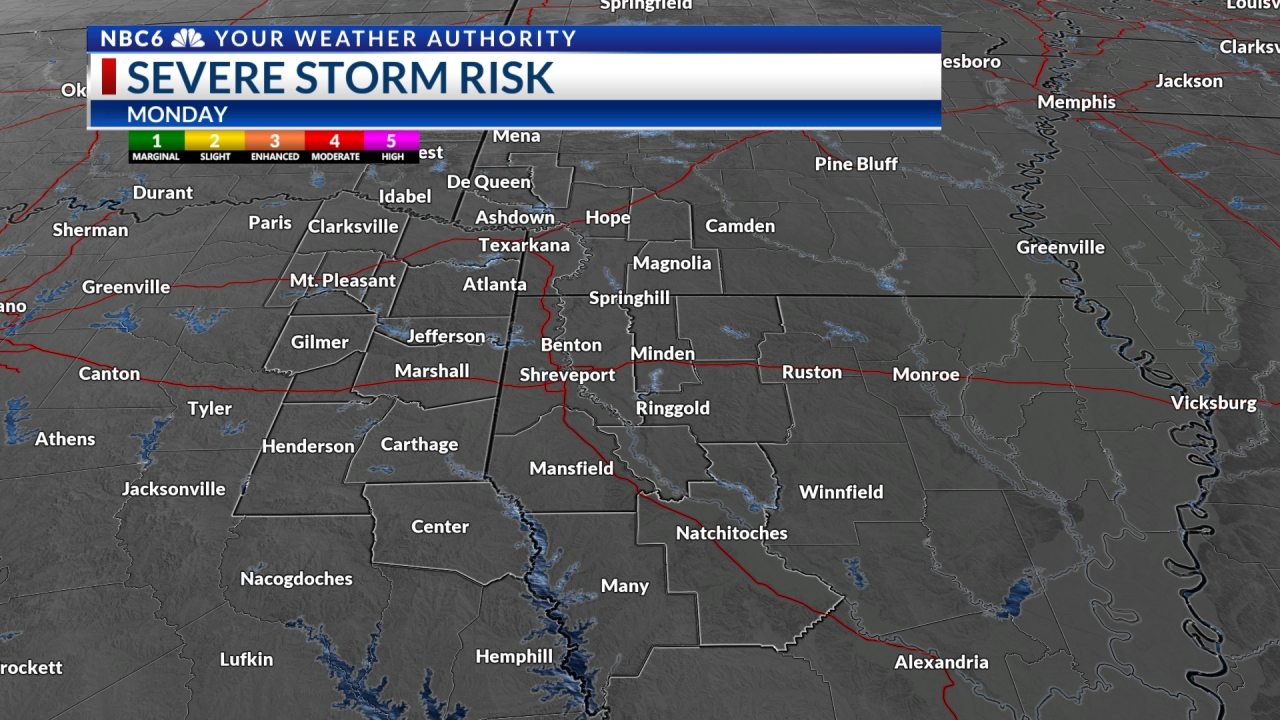 Severe Weather Risk Day after Tomorrow