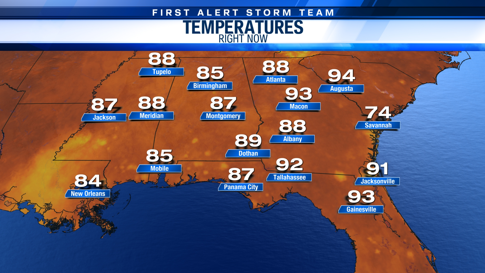 Five State Temps