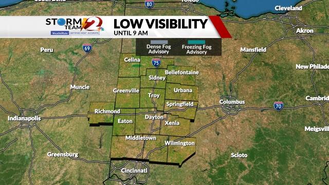 Fog Advisory Map