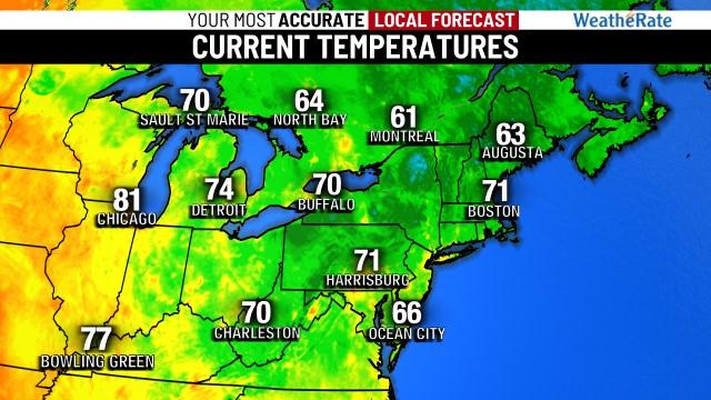 Northeast Temperatures