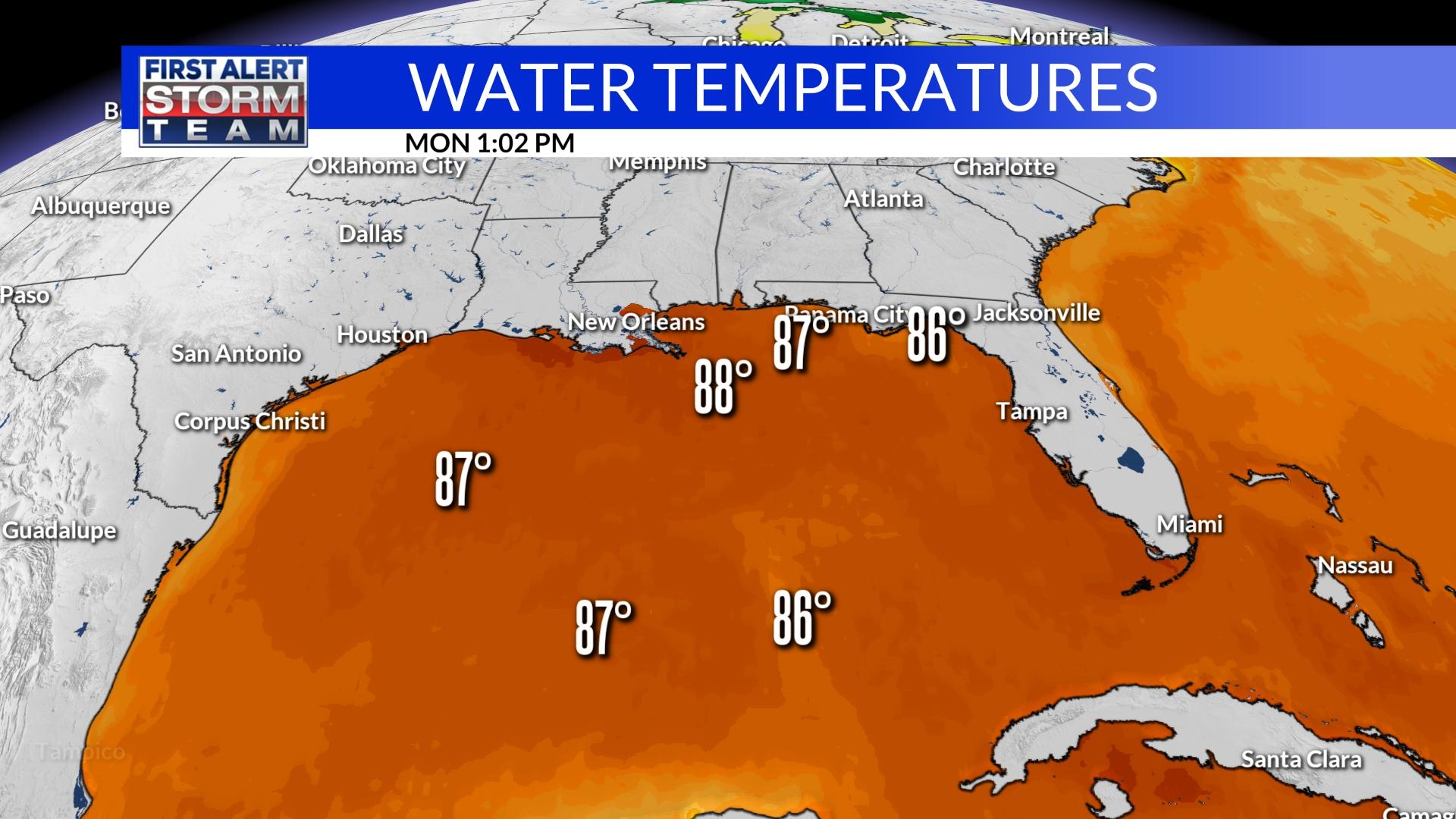 Gulf Water Temps