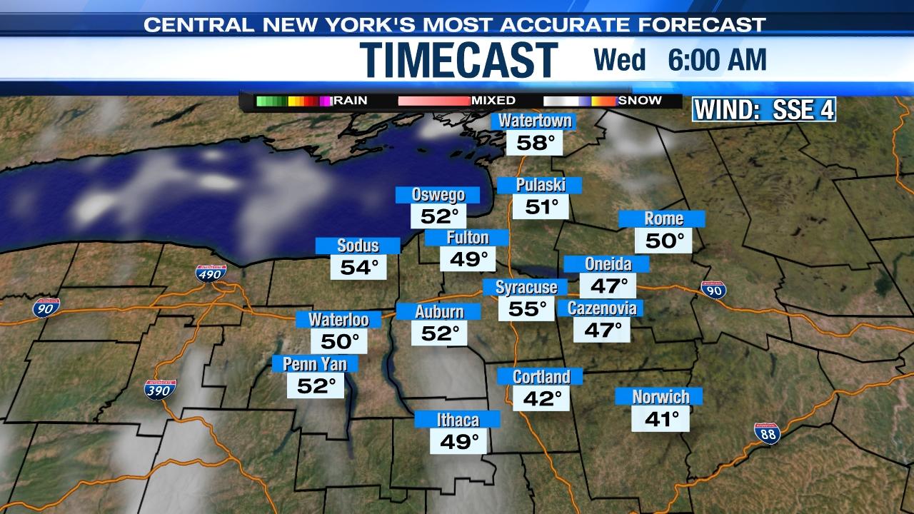 Hourly Weather Forecast   Ithaca, Syracuse, CNY   WSYR